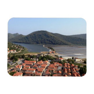 typical village in CROATIA Rectangular Photo Magnet