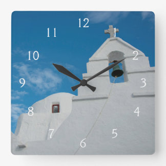 Typical whitewashed church clock