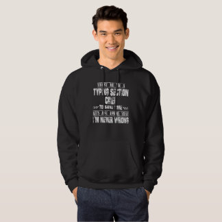 TYPING SECTION CHIEF HOODIE