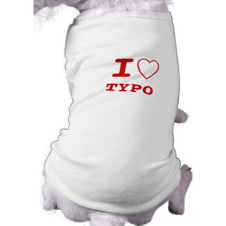 TYPO I heart (love) Pet Clothing