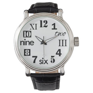 Typographic Fun Numbers Watch