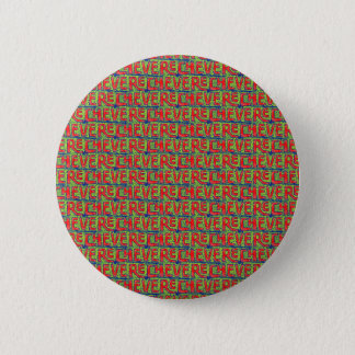 Typographic Graffiti Pattern 2 Inch Round Button
