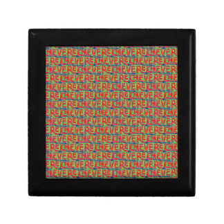 Typographic Graffiti Pattern Gift Box