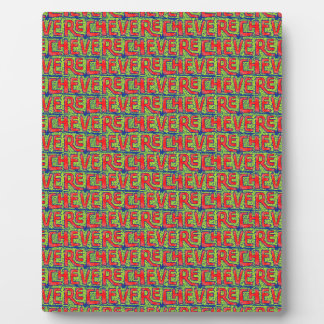 Typographic Graffiti Pattern Plaque