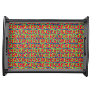 Typographic Graffiti Pattern Serving Tray