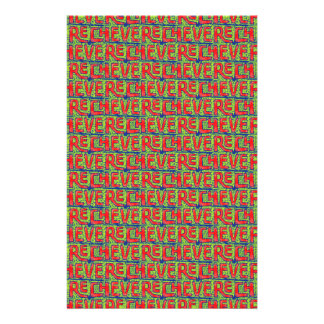Typographic Graffiti Pattern Stationery
