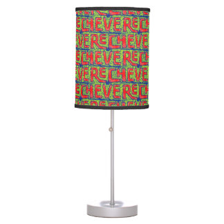 Typographic Graffiti Pattern Table Lamp