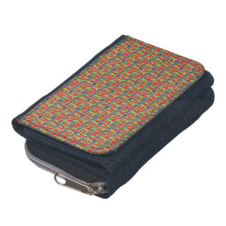 Typographic Graffiti Pattern Wallets