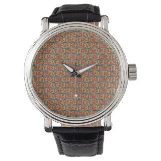 Typographic Graffiti Pattern Watch