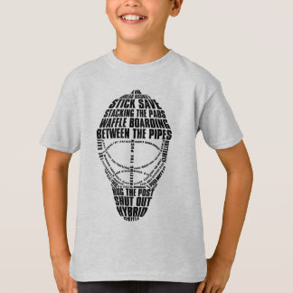 Typographic Hockey Goalie Mask T-Shirt
