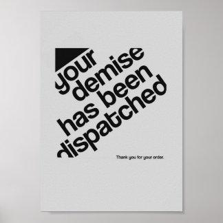 Typographic Poster - Demise