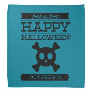 Typographic retro Halloween Bandana