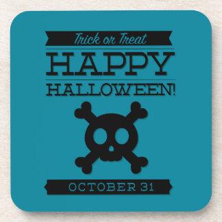 Typographic retro Halloween Beverage Coaster