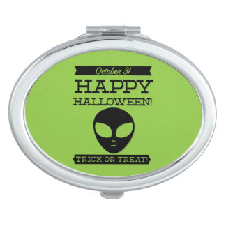 Typographic retro Halloween Compact Mirror