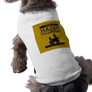 Typographic retro Halloween Doggie Tee Shirt