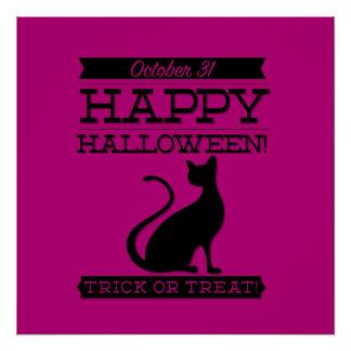 Typographic retro Halloween Perfect Poster