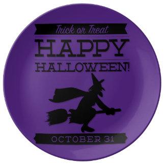 Typographic retro Halloween Plate