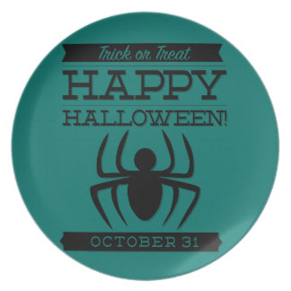 Typographic retro Halloween Plates