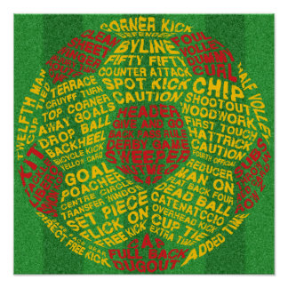 Typographic Soccer Ball Poster