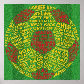 Typographic Soccer Ball Print
