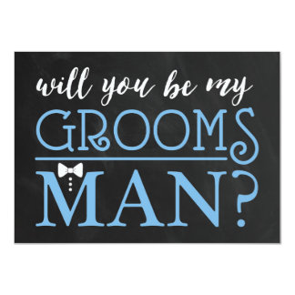 "TYPOGRAPHIC WILL YOU BE MY GROOMSMAN | GROOMSMAN 4.5"" X 6.25"" INVITATION CARD"
