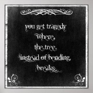 Typographie : Citation inspirée sur la sagesse Poster
