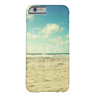 Typographie d'océan de cas de l'iPhone 6 de plage Coque iPhone 6 Barely There