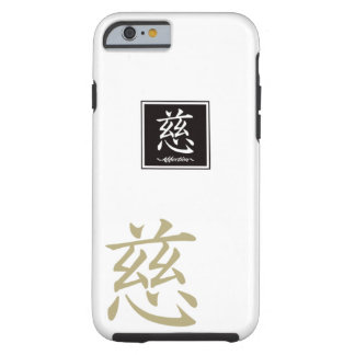 """Typography """"Affection """" of Chinese character Tough iPhone 6 Case"""