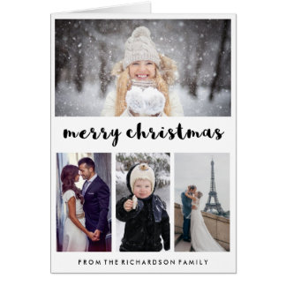 Typography and Photos   Modern Merry Christmas Card