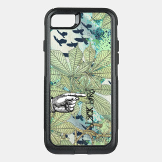 Typography Blackbird Watercolor Texture Blue Green OtterBox Commuter iPhone 8/7 Case