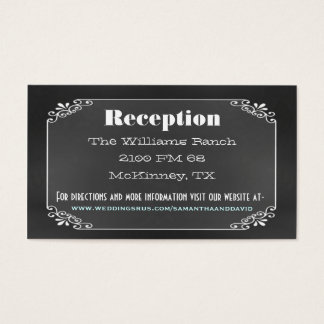 Typography Chalk Board Wedding Enclosure Card