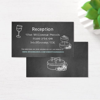 Typography Chalk Board Wedding Reception Card