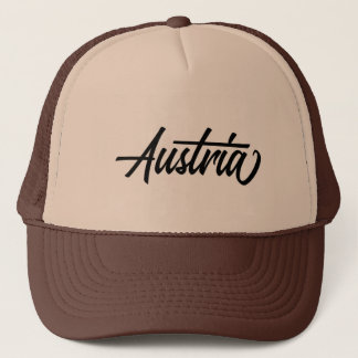 Typography country name for Austria Trucker Hat
