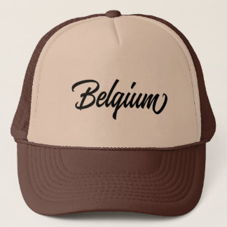 Typography country name for Belgium Trucker Hat