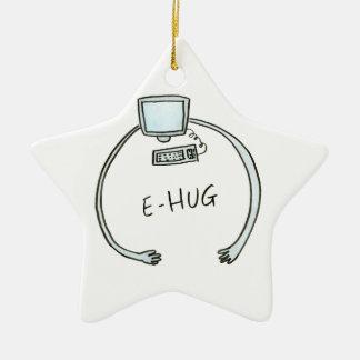 Typography e-hug computer hug ceramic ornament