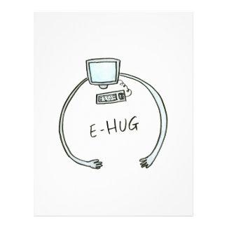 Typography e-hug computer hug letterhead