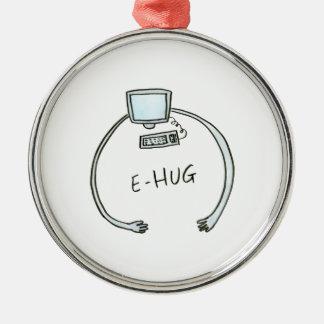 Typography e-hug computer hug metal ornament