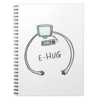 Typography e-hug computer hug notebooks