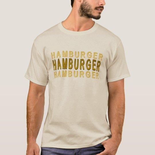 Typography Hamburger T-Shirt