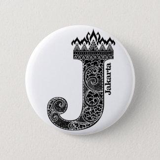 Typography J (Jakarta: Indonesia) 2 Inch Round Button