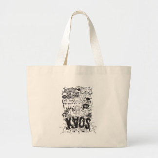 typography large tote bag