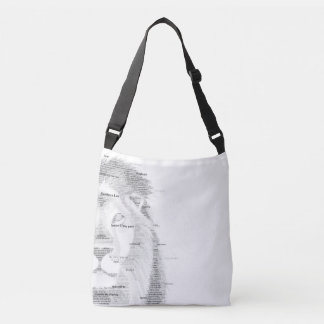 Typography Lion Crossbody Bag