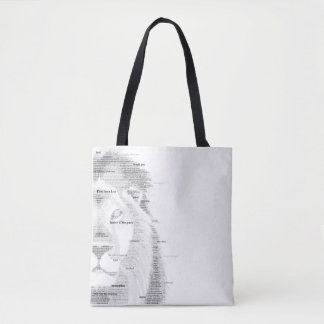 Typography Lion Tote Bag