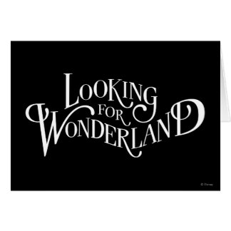 Typography | Looking for Wonderland Card