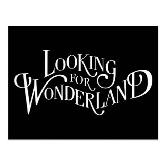 Typography | Looking for Wonderland Postcard