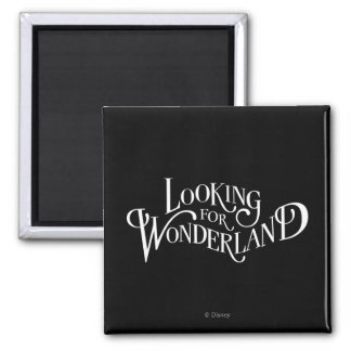 Typography | Looking for Wonderland Square Magnet