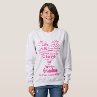 "Typography Love Heart ""We Love You"" Personalized Sweatshirt"