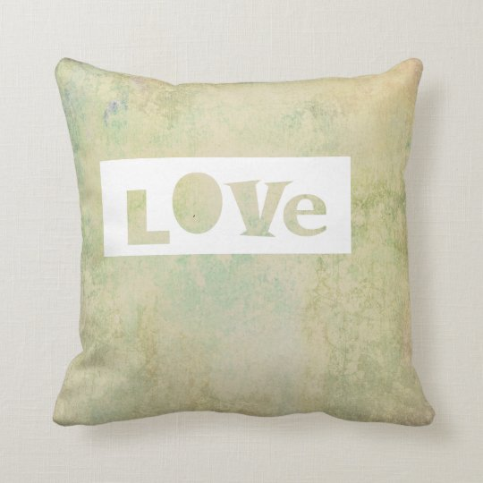 typography love quote pillow pastel colours