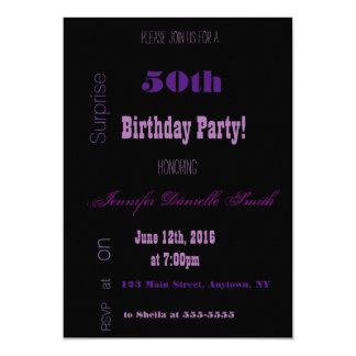 Typography Milestone Birthday Party Invitations