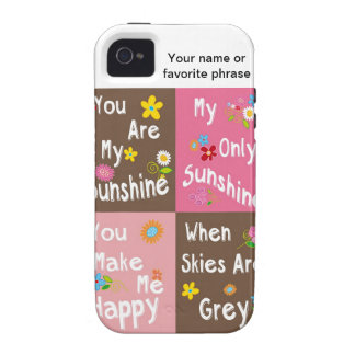 Typography motivational phrase - Collage iPhone 4 Cover